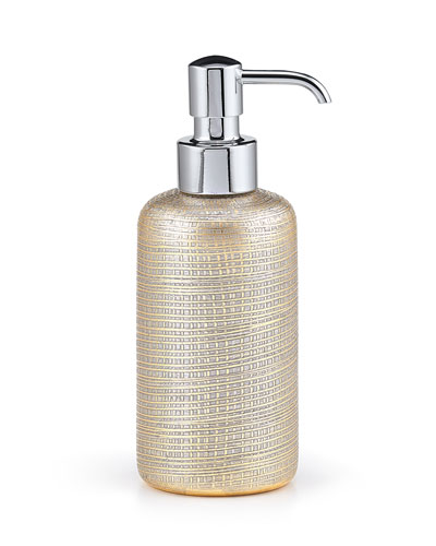 Woven Metallic Pump Dispenser with Nickel Polished Top