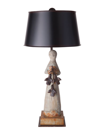 Jan Barboglio St. Francis Stone Lamp