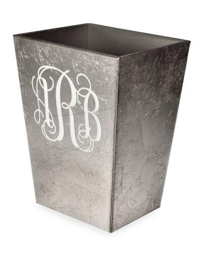 Eos Monogram Straight Wastebasket with Liner