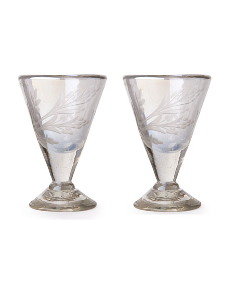 Jan Barboglio Lustre d'Pasion Cordial Glasses Pair, Clear