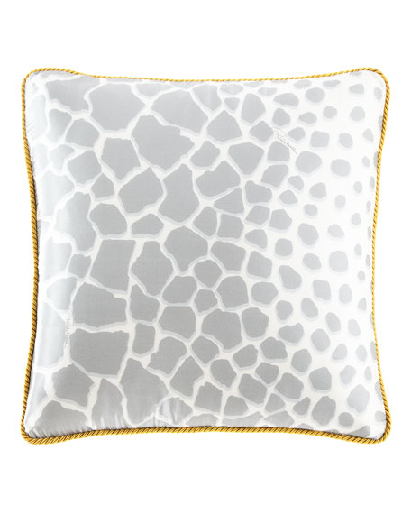 "Jerapha Silk Pillow, 16""Sq."