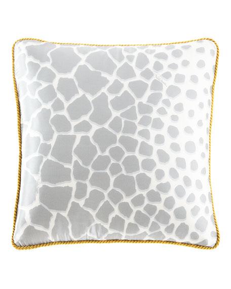 "Jerapha Silk Pillow, 16""Sq."