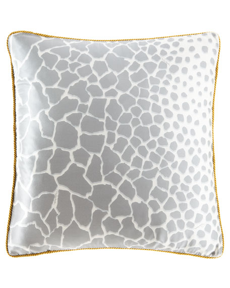 "Jerapha Silk Pillow, 23""Sq."
