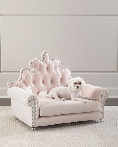 Isabella Blush Dog Bed