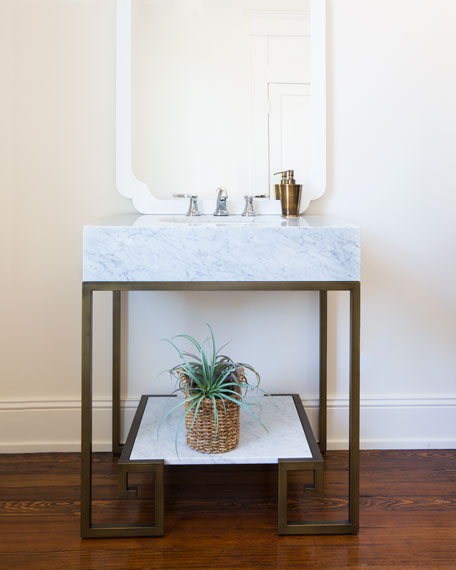 Sabina Marble Top Vanity and White Porcelain Sink