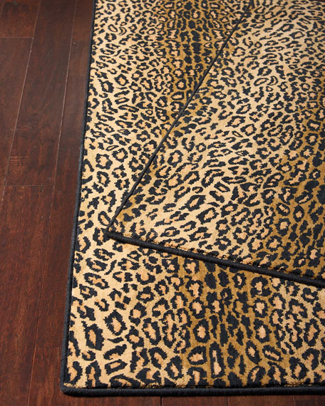 Midnight Cheetah Rug, 3' x 5'