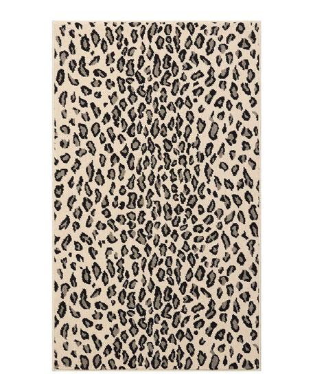 Lea Snow Leopard Mat, 3' x 5'