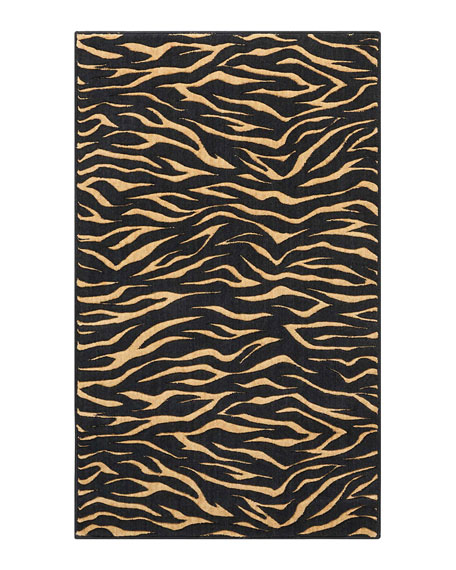 Midnight Tiger Mat, 3' x 5'