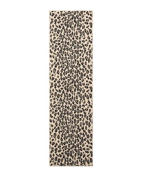 "Lea Snow Leopard Runner, 2'3"" x 8'"