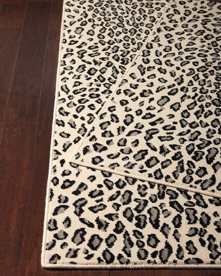 Lea Snow Leopard Rug, 3' x 5' and