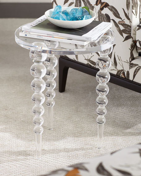 Acrylic Coffee Table Top: Ambella Katava Acrylic Side Table