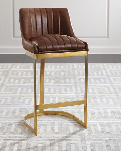 Taya Channel Tufted Bar Stool