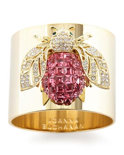 Sparkle Bee Napkin Rings, Set of 2