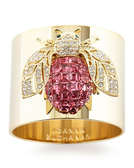 Joanna Buchanan Sparkle Bee Napkin Rings, Set of