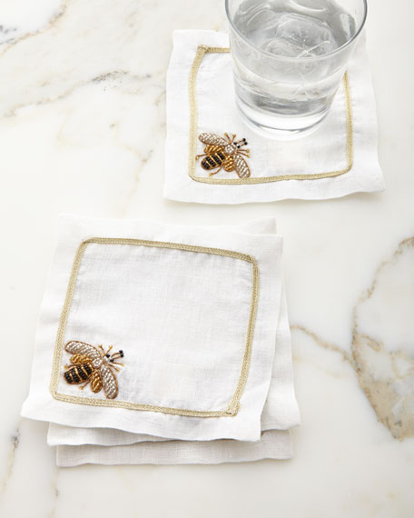 Joanna Buchanan Sparkle Bee Cocktail Napkins, Set of