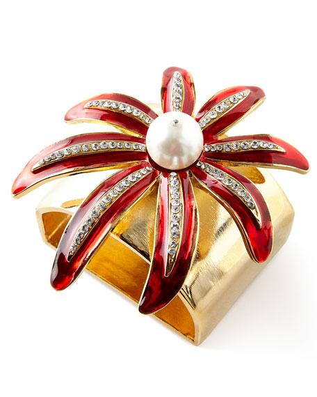 Wild Flower Napkin Rings, Set of 4