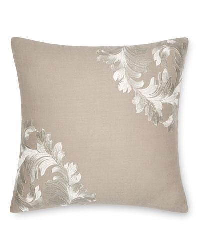 Acanthus Leaves Decorative Pillow  18Sq.