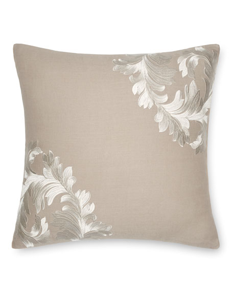 "Acanthus Leaves Decorative Pillow, 18""Sq."