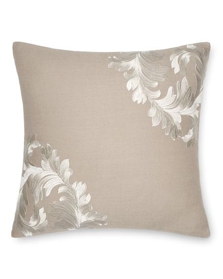 "Acanthus Leaves Decorative Pillow, 18""Sq."