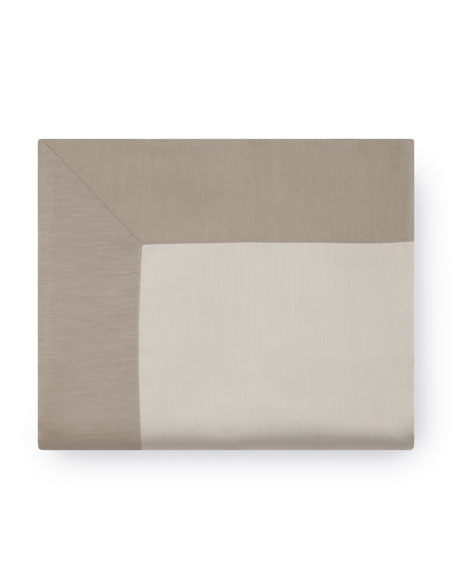 California King Double-Faced Sateen Bottom Fitted Sheet
