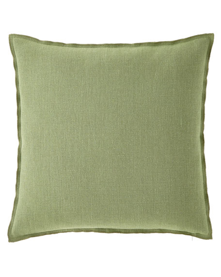 Brera Lino Decorative Pillow, Olive