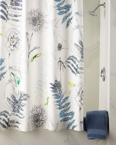 Designers Guild Acanthus Indigo Shower Curtain