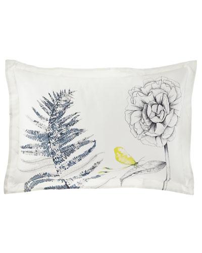 Acanthus Standard Pillow Case, Indigo