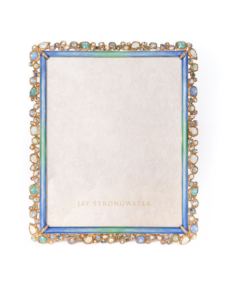 Jay Strongwater Oceana Bejeweled Frame, 8