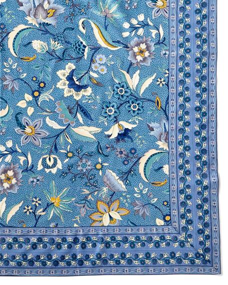 Handprint Kerala Sapphire Tablecloth, 60
