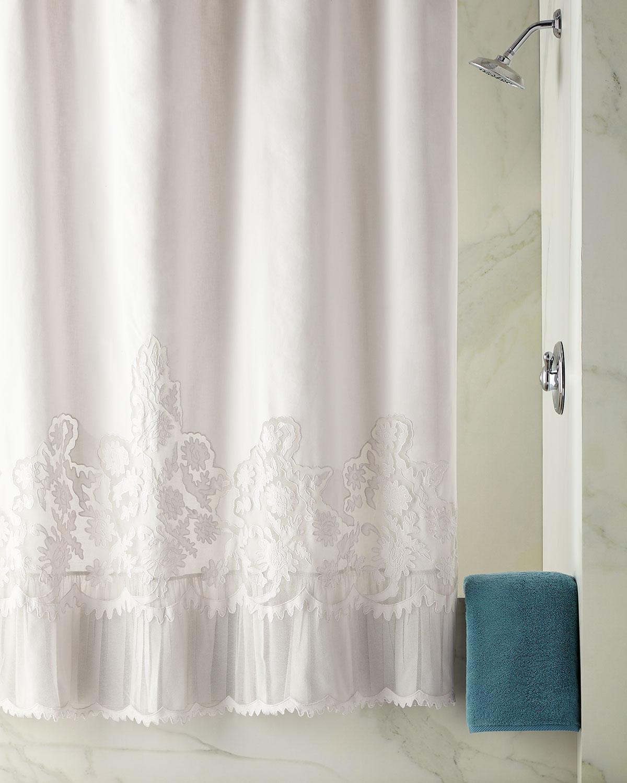 Caprice Shower Curtain Cloud