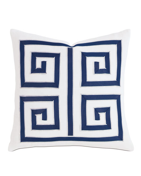 "Watermill Indigo Decorative Pillow, 18""Sq."
