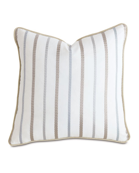 """Watermill Taupe Decorative Pillow, 22""""Sq."""
