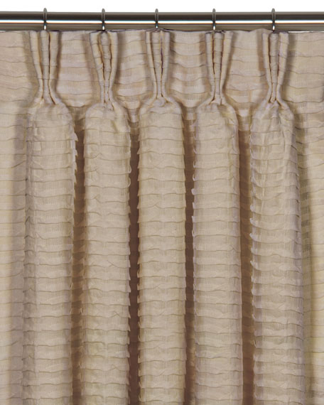 "Yearling Flax Pinch Pleat Curtain Panel, 108""L"