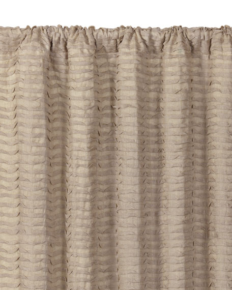 "Yearling Flax Rod Pocket Curtain Panel, 96""L"