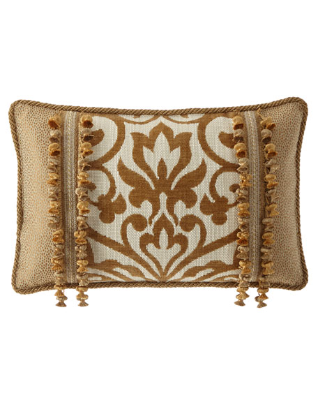 Loana Oblong Pillow with Onion Trim
