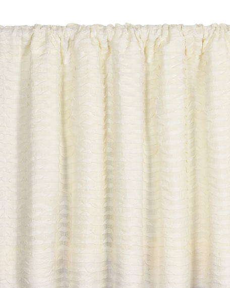 "Yearling Pearl Rod Pocket Curtain Panel, 96""L"