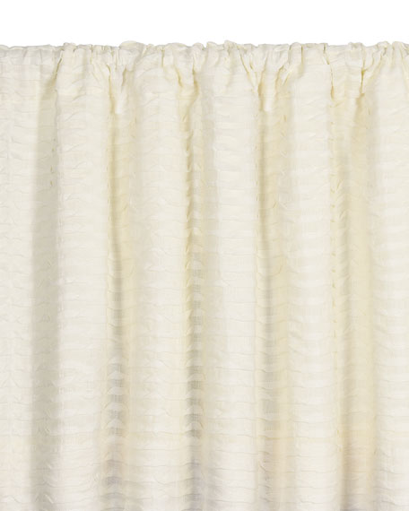 "Yearling Pearl Rod Pocket Curtain Panel, 108""L"