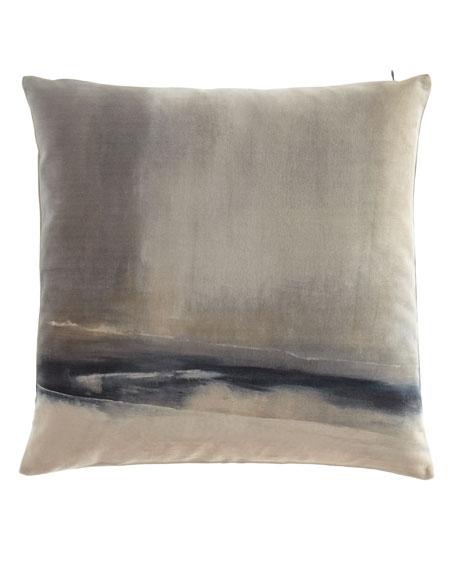 "Enigma Printed Velvet Pillow, 20""Sq."