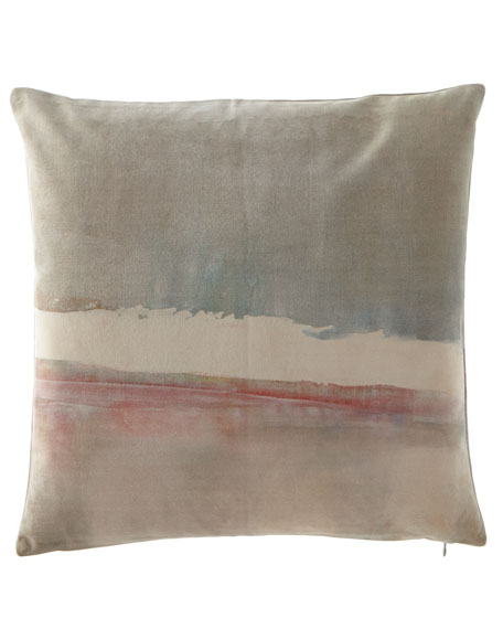 "Refuge Printed Velvet Pillow, 20""Sq."