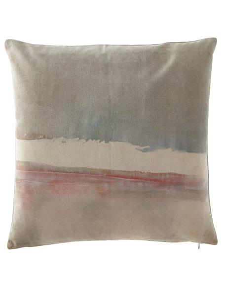 """Refuge Printed Velvet Pillow, 20""""Sq."""