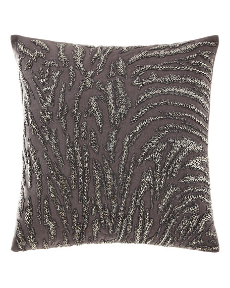 Abstract Beaded Decorative Pillow