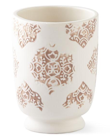 John Robshaw Lakki Porcelain Tumbler, Taupe