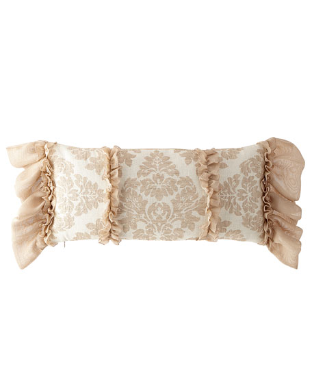 Odette Oblong Pillow with Ruffles