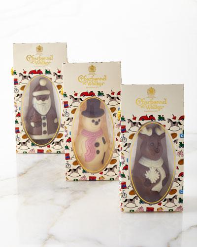 Santa, Snowman, and Reindeer Chocolate Set