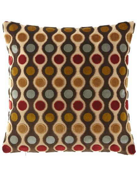"Cerise Pillow, 18""Sq."