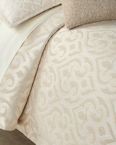 Ann Gish Scroll King Duvet Set and Matching