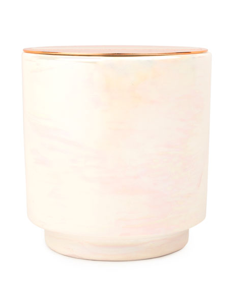 Cotton & Teak Iridescent Ceramic Candle, 17 oz./482g