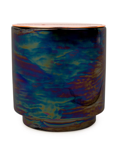 Incense & Smoke Iridescent Ceramic Candle  17 oz./482g