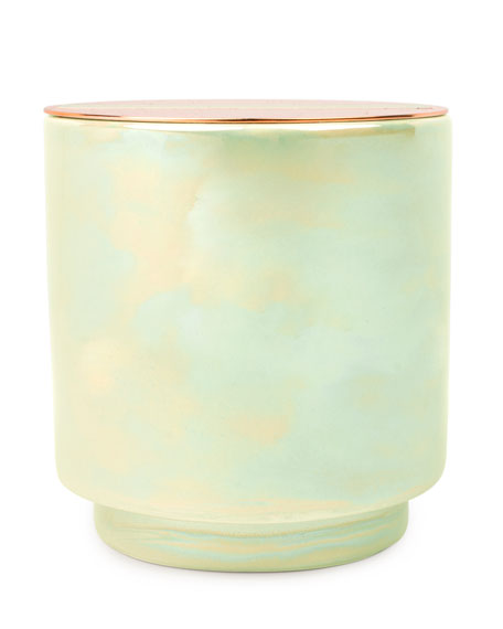 Paddywax White Woods & Mint Iridescent Ceramic Candle,