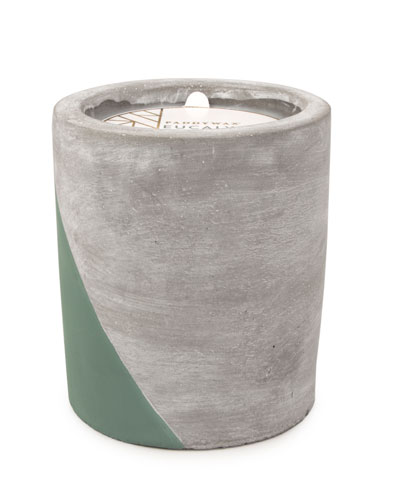 Eucalyptus & Santal Large Concrete Candle, 12 oz./340g